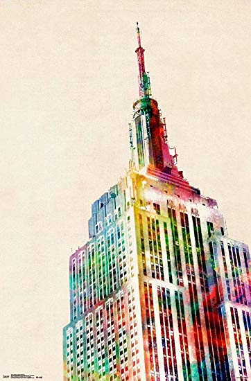 Empire State Building Watercolor