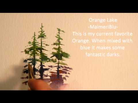 480x360 Painting Evergreen Trees In Watercolor