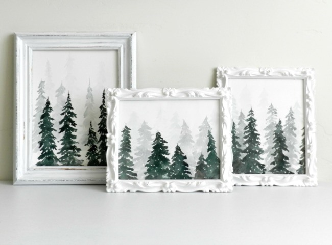 650x481 Watercolor Pine Trees Tutorial How To Paint A Wintery Forestscape
