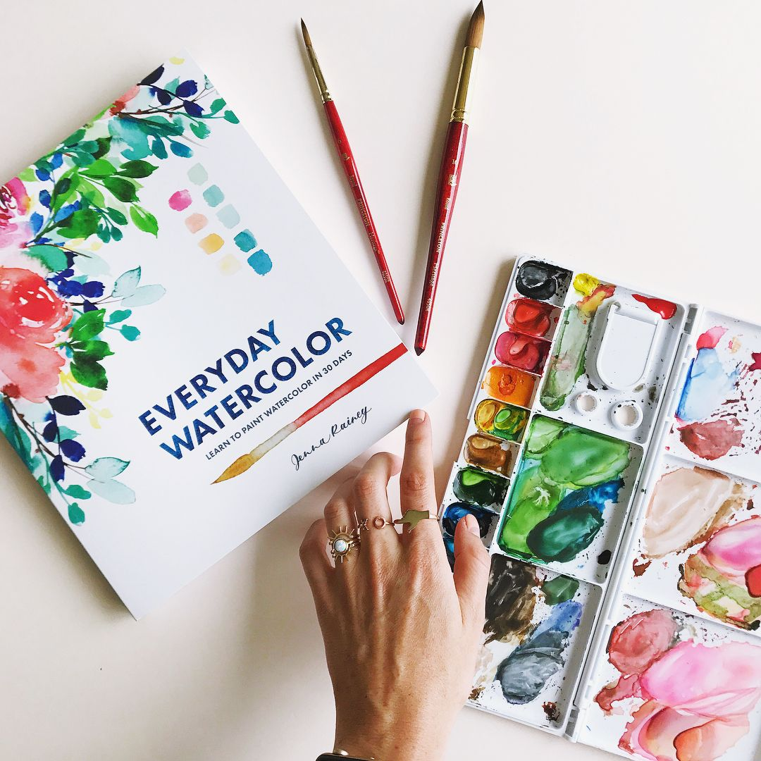 1080x1080 Everyday Watercolor Book Soon Available By Jenna Rainey. Visit Her
