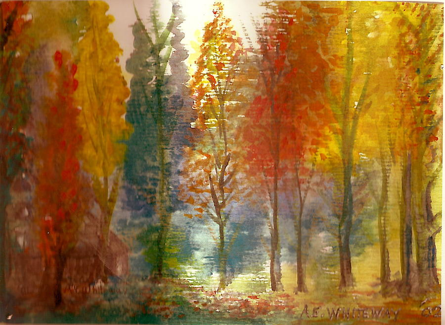 900x659 Favorite Fall Watercolor Painting Painting By Anne Elizabeth Whiteway