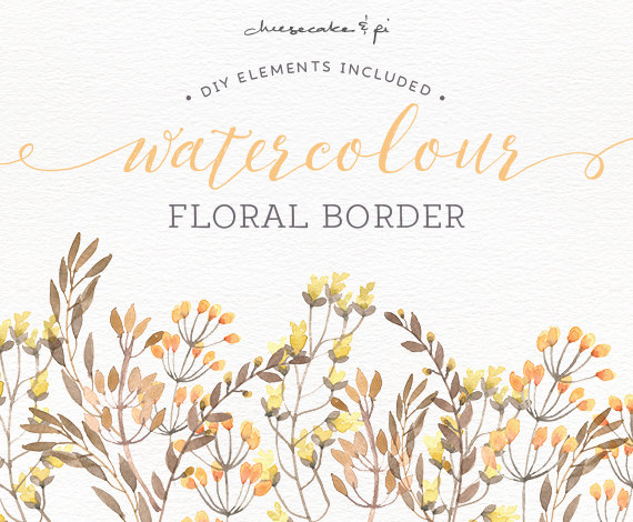 570x470 Watercolor Floral Border Png Floral Clipart Wedding Invitation