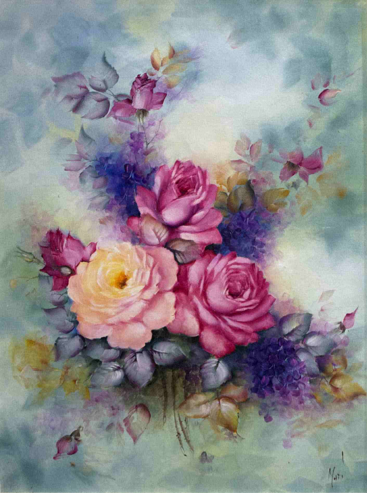 1411x1891 Famous Watercolor Flower Paintings Awesome Flowers Painting
