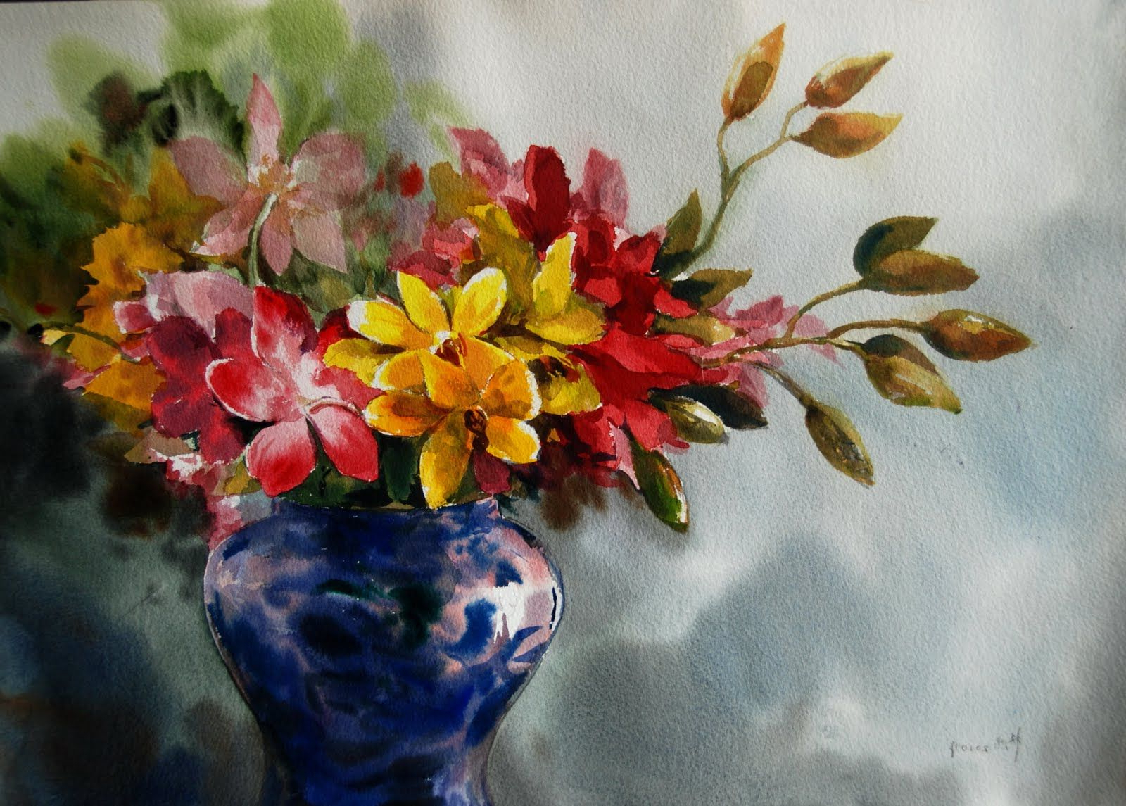 1600x1145 Famous Watercolor Paintings Of Flowers