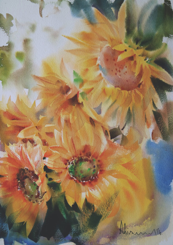 724x1024 Watercolor Flowers Of Every Type From Thai Artist Adisorn Pornsirikarn