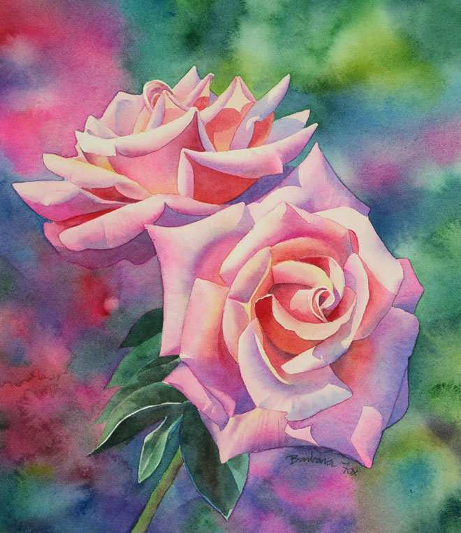 660x764 Watercolor Painting Flowers Beautiful Famous Watercolor Flower