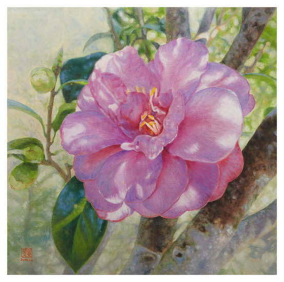 554x550 A Taiwanese Artist And Her Famous Flower Paintings