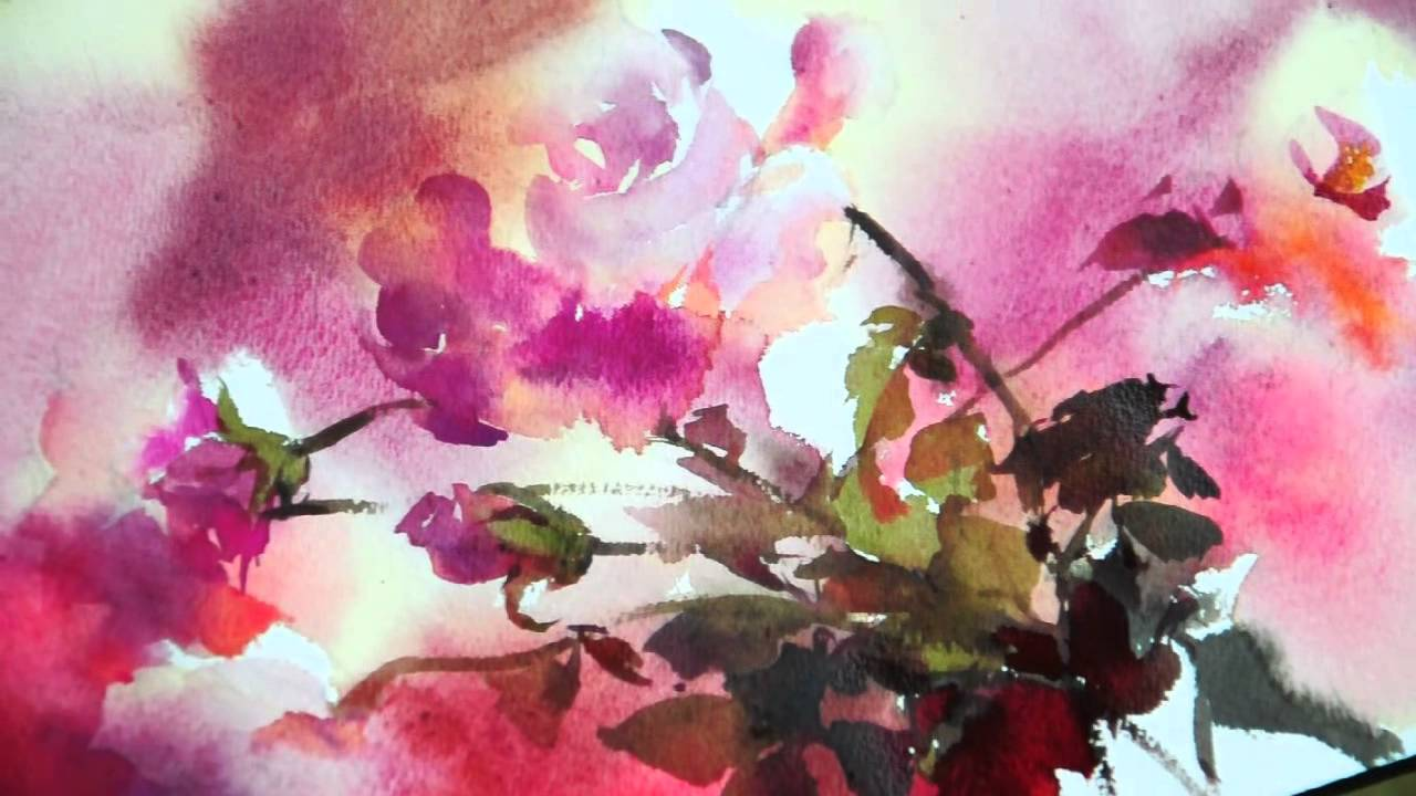 1280x720 Watercolor Rhythm Of Flowers No.1 By Phatcharaphan Chanthep