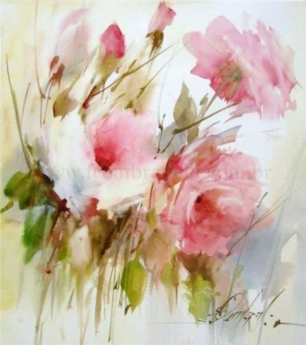 444x500 Watercolor Paintings Of Flowers It Is True