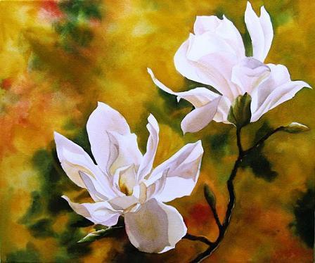 448x374 Exclusive Watercolor Flower Paintings Weneedfun