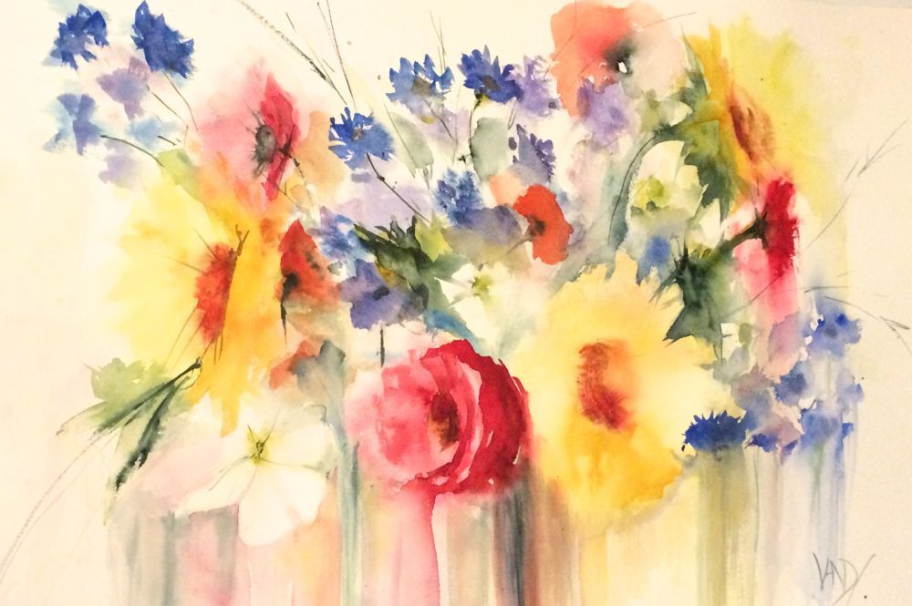 1000x665 Famous Watercolor Flower Paintings (11) Watercolor Mania