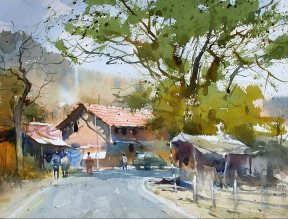 576x438 Famous Watercolor Paintings Indian Watercolor Paintings