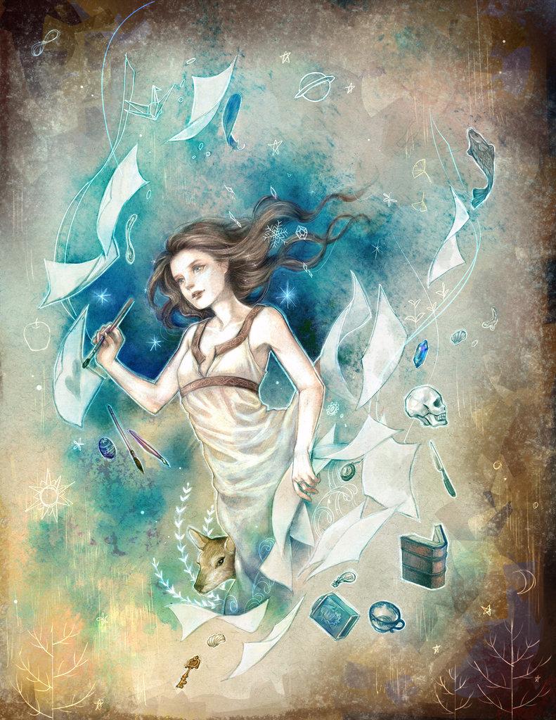 791x1024 Juri Illustration Fantasy Illustration Watercolor Fairy