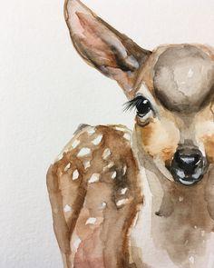 236x295 32 Best Watercolor Deer Images In 2018 Watercolor