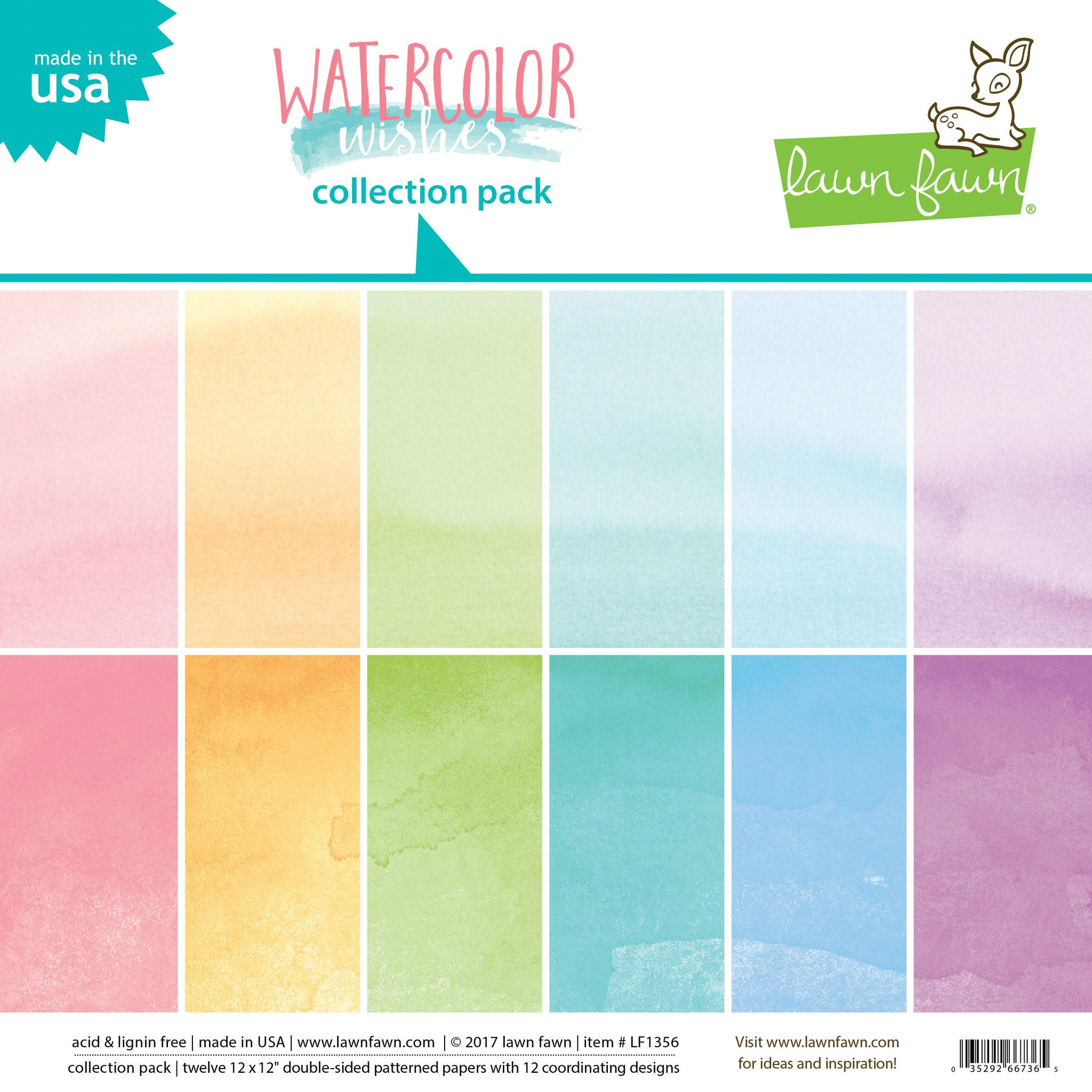 2048x2048 Watercolor Wishes Collection Pack Lawn Fawn