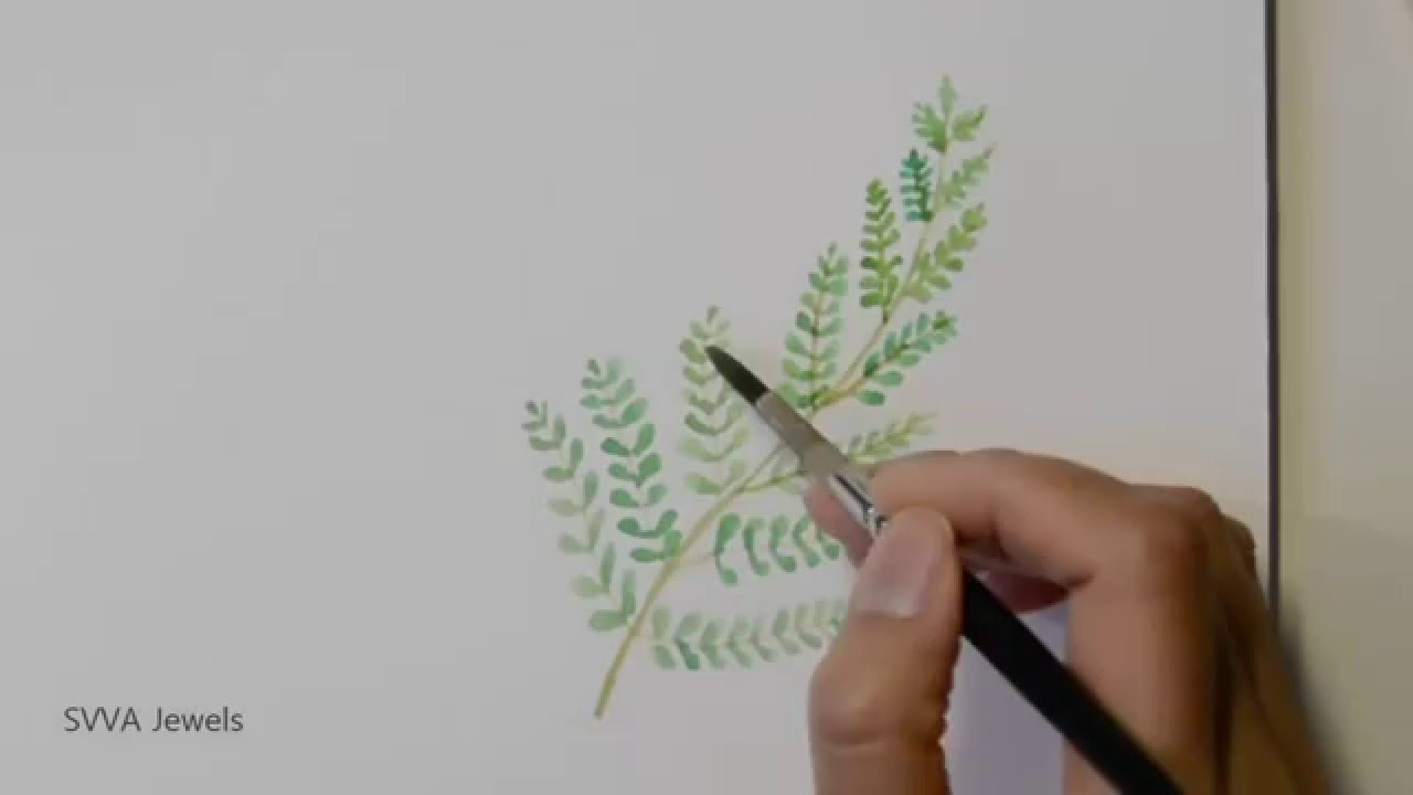 1280x720 How To Paint Fern In Watercolor