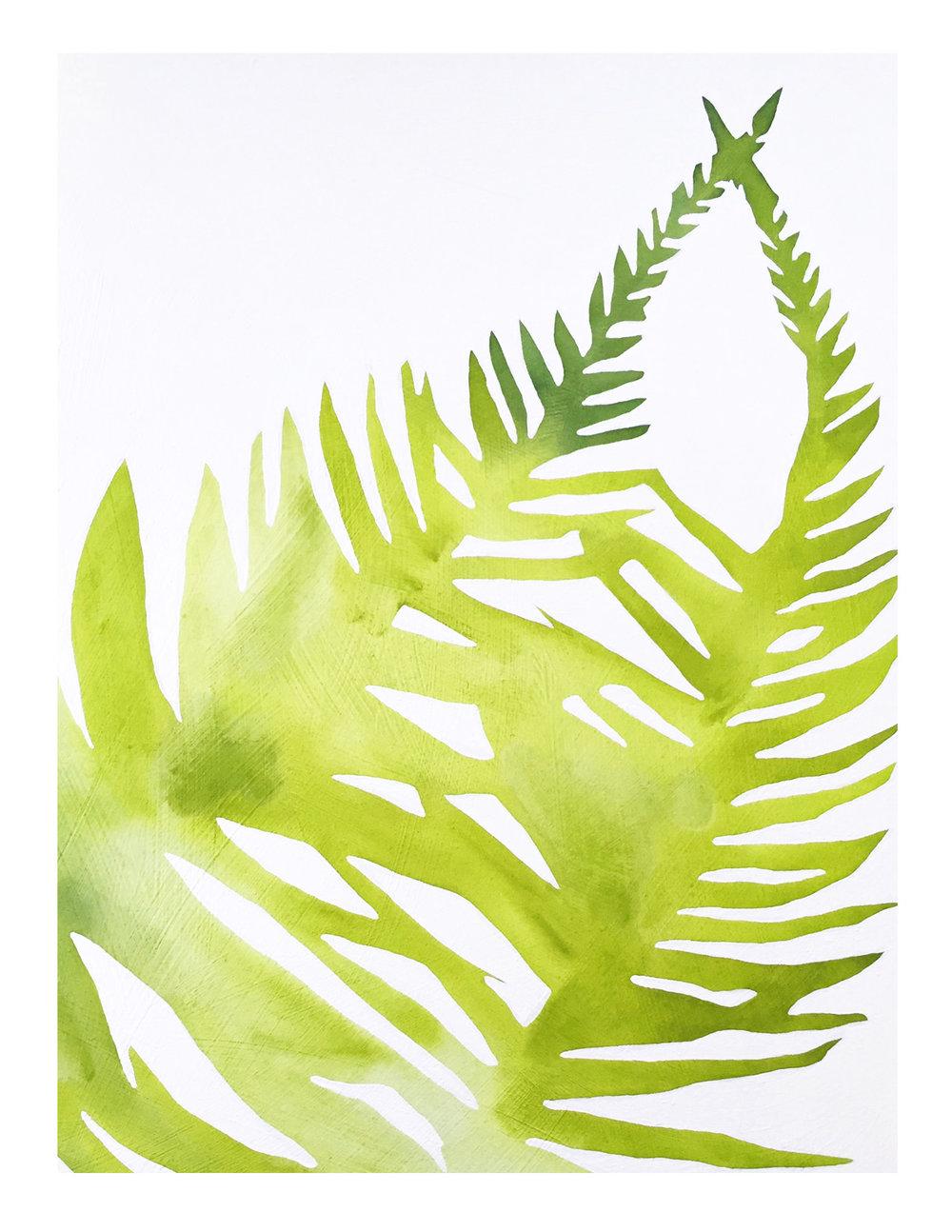 1000x1294 Watercolor Fern Print Modern Botanical Art Print 11x14 Rachel