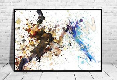 400x275 Final Fantasy Tidus Poster Watercolor Wall Decor Game Print Poster