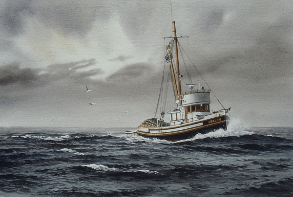 Fishing Boat Watercolor