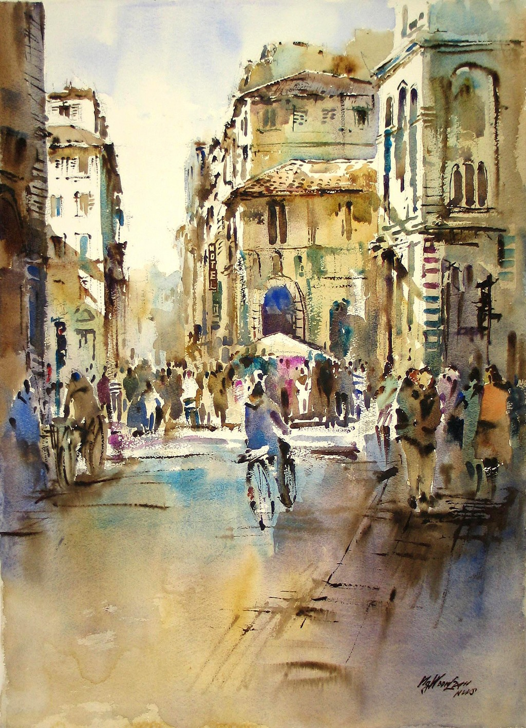 1024x1417 Singapore Watercolour Society Artist Ng Woon Lam Artwork Modern