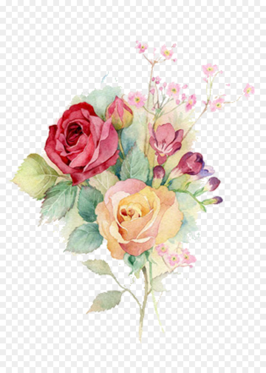900x1260 Download Watercolour Flowers Watercolor Painting Rose Art