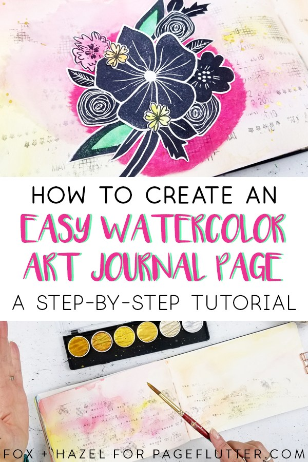 600x900 How To Create An Easy Watercolor Art Journal