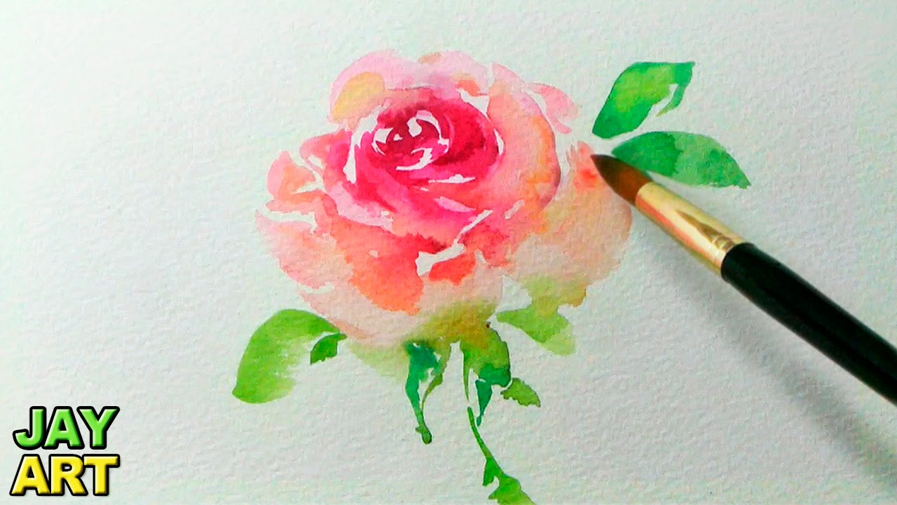 1280x720 How To Paint A Pink Rose In Watercolor