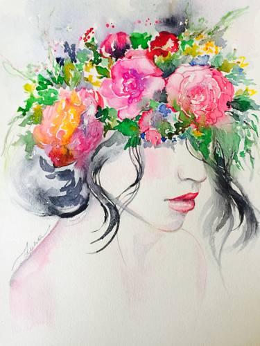 375x500 Floral Crown Painting By Lana Moes Saatchi Art
