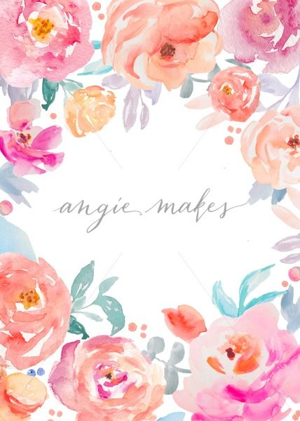 428x600 This Adorable Watercolor Flower Stationery Template Is Ready To
