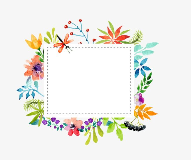 650x543 Watercolor Flowers,frame,vector Watercolor Flowers Border