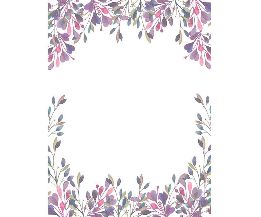 900x749 Watercolour Flower Frame Background Clip Art Graphic Design Png