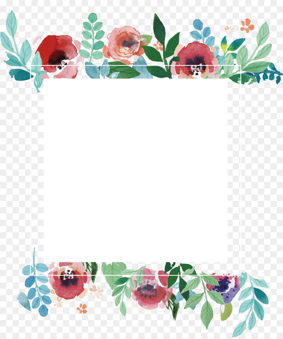 900x1080 Wedding Invitation Flower Picture Frame