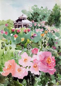 Flower Garden Watercolor
