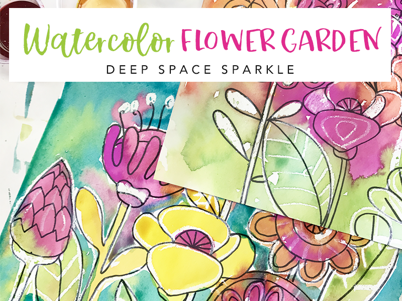 800x600 Draw A Flower Garden Deep Space Sparkle