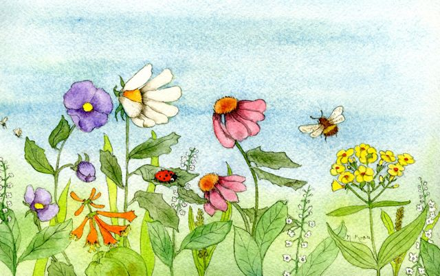 640x402 How To Paint Garden Watercolor Paintings