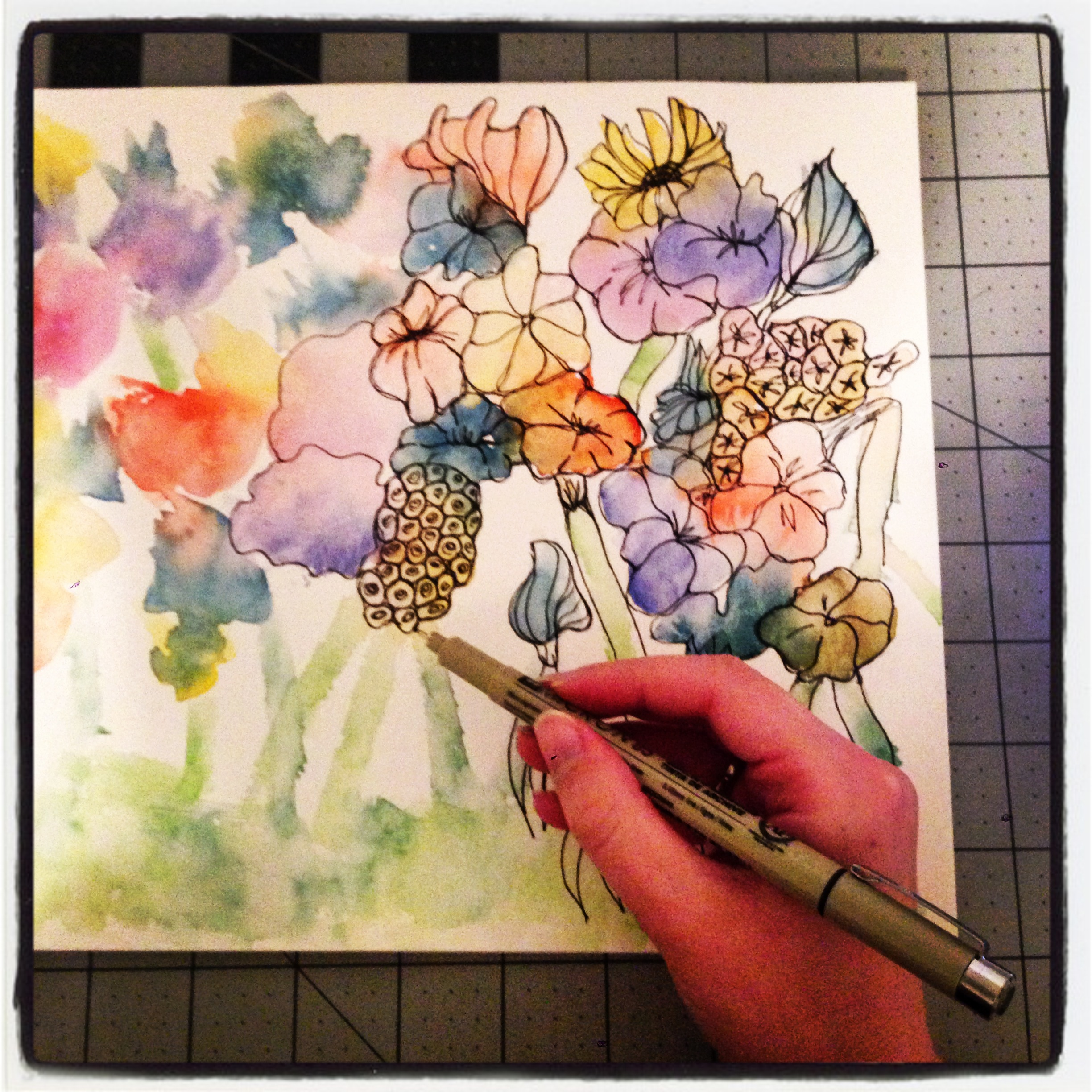 2448x2448 Project Diy Watercolor Flowers The Amateur Librarian