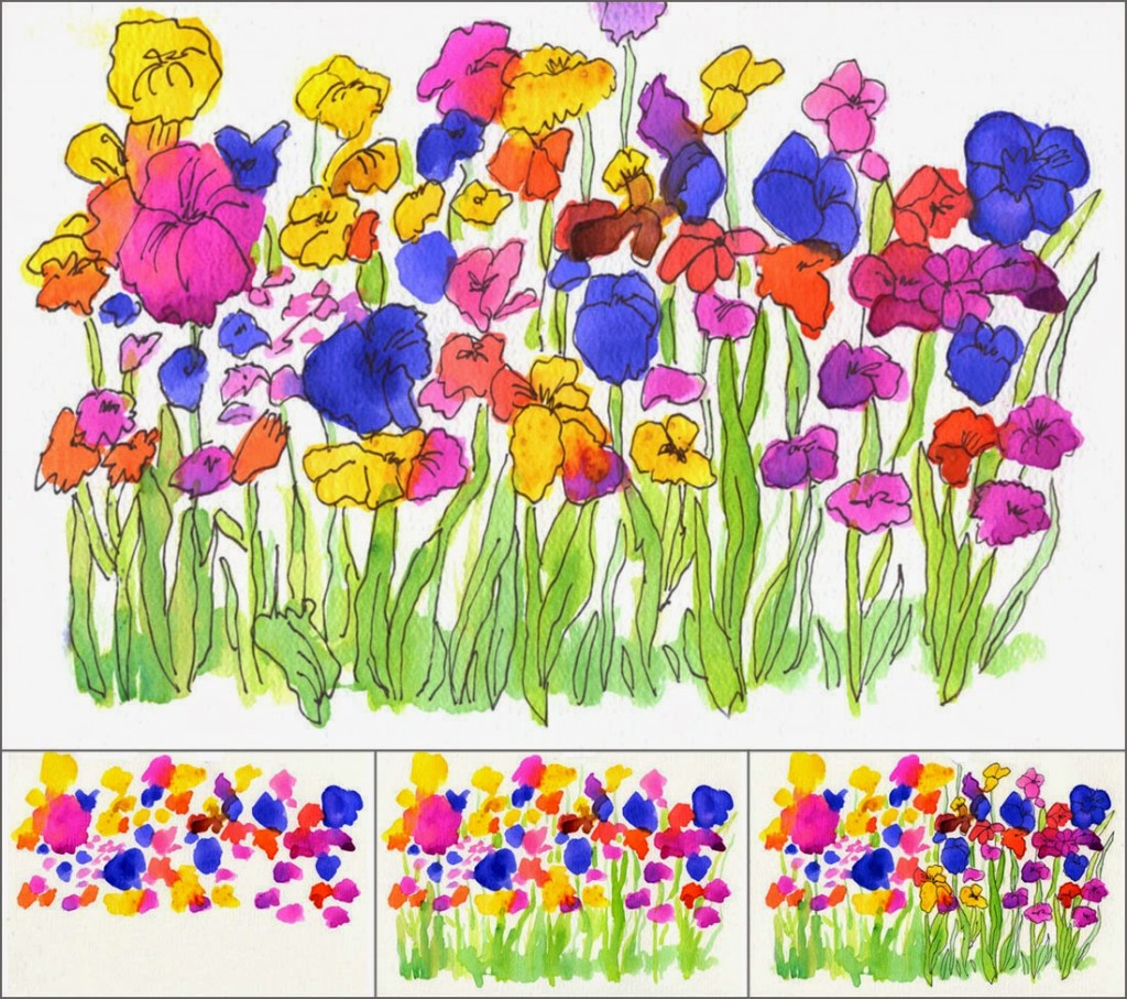 1024x907 Watercolor Flower Garden Art Projects For Kids