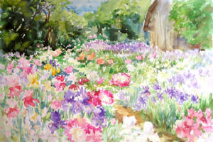 300x200 Country Garden Watercolor Demo