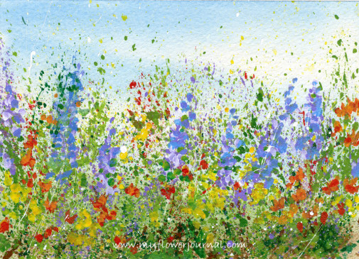 505x365 Create A Splattered Paint Flower Garden