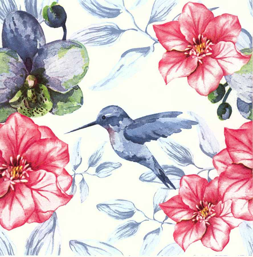 888x900 Decoupage Paper Napkins Of Hummingbird Napkins Watercolor Of