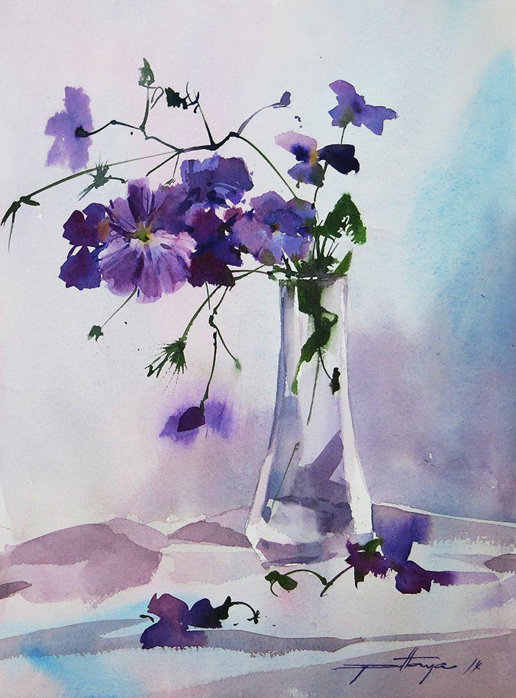 746x1008 Flowers In Vase Watercolor