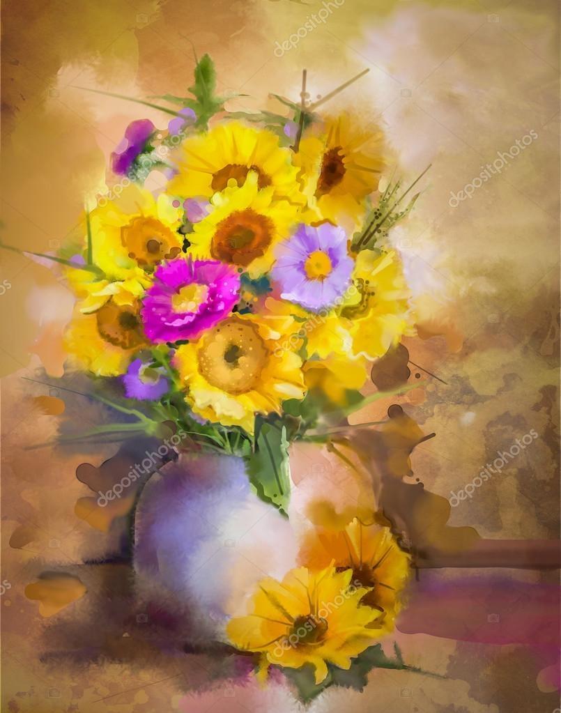 805x1023 25 Luxury Flower Vase Painting Watercolor Flower Decoration Ideas