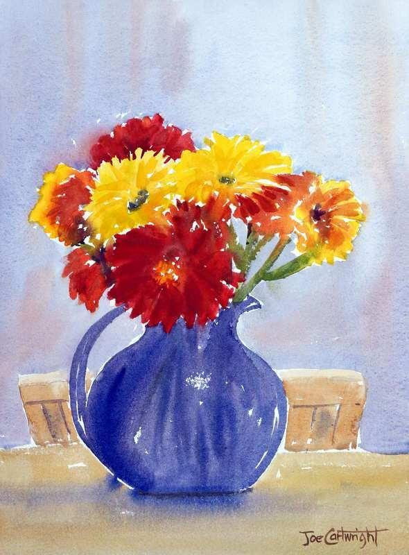 590x800 Simple Flower Vase Paintings New Flowers In A Vase Watercolor