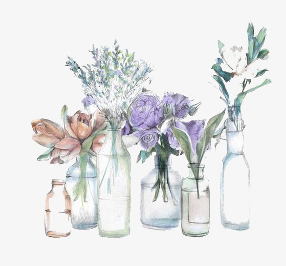 559x519 Watercolor Vase, Watercolor Clipart, Vase, Flower Png Image And