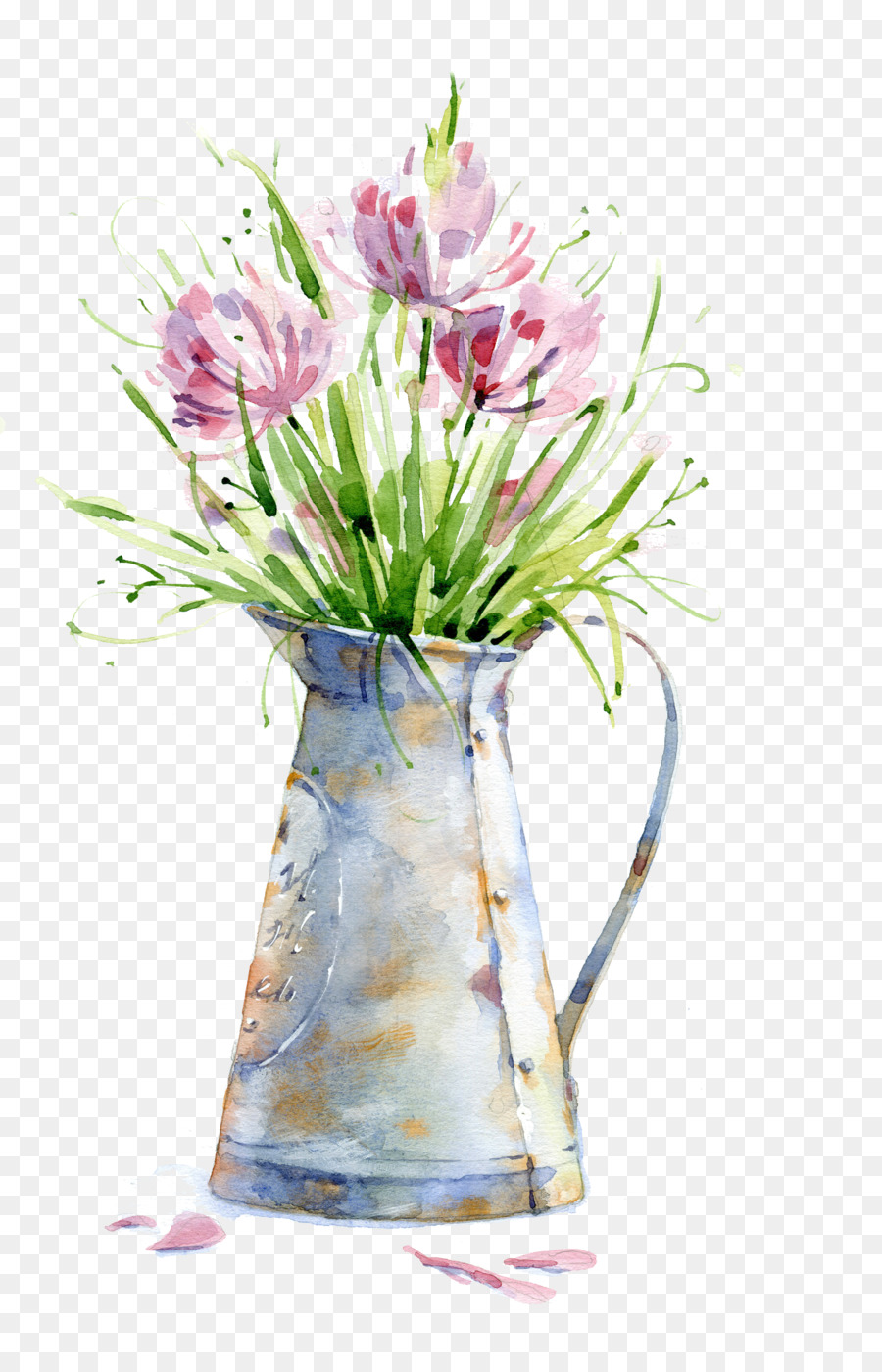 900x1400 Watercolor Painting Canvas Print Poster