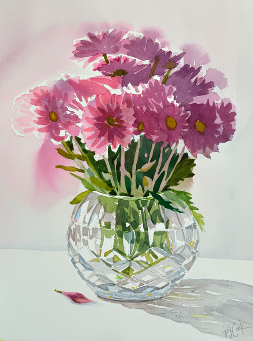 500x674 Crystal Vase With Flowers