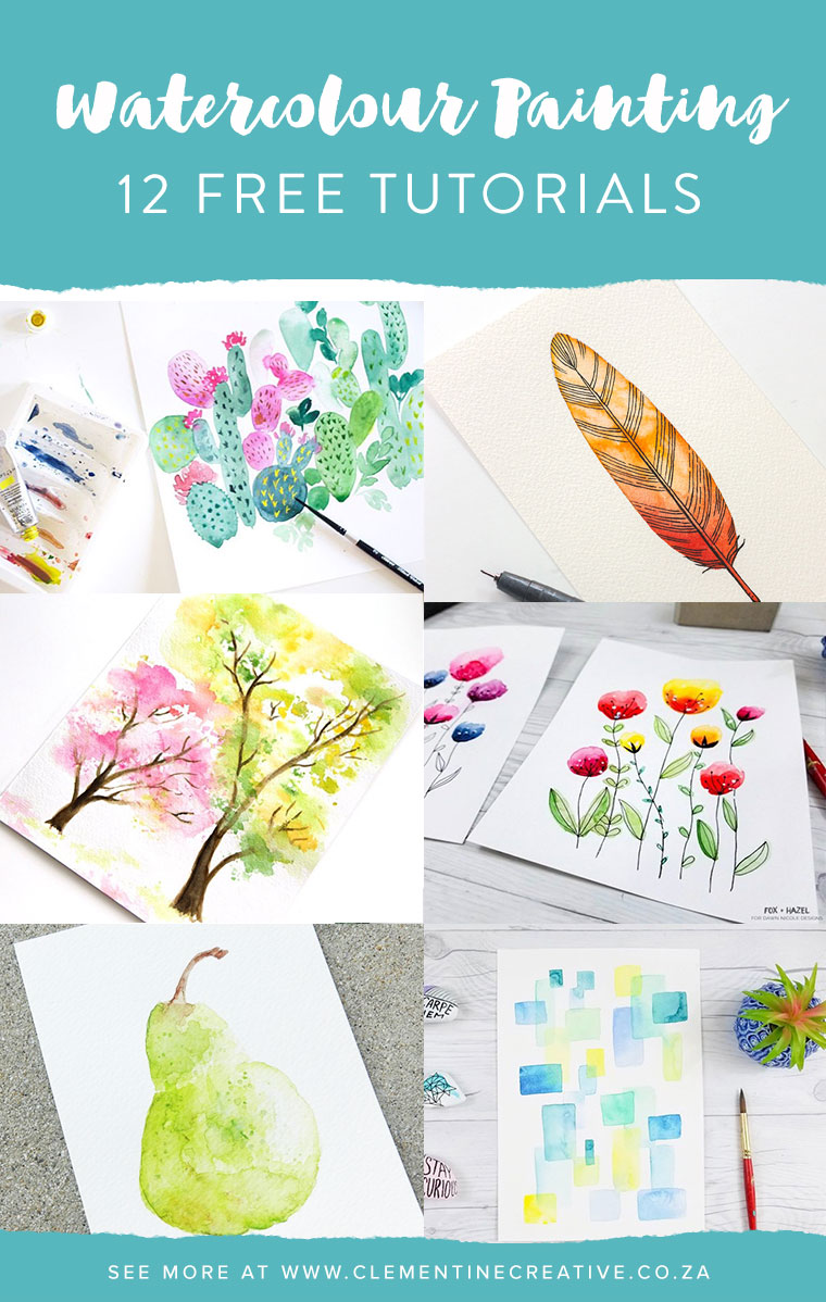 Flower Watercolor Painting For Beginners
