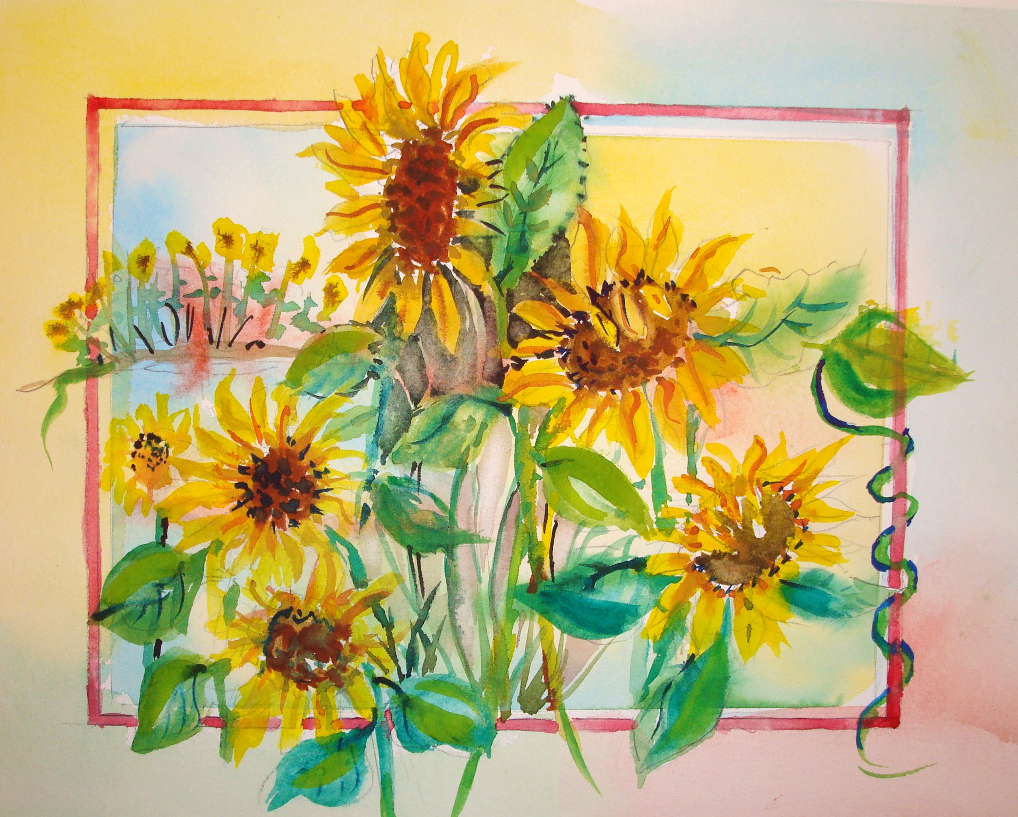 2089x1677 How To Paint Sunflowers In Watercolor (With Pictures)