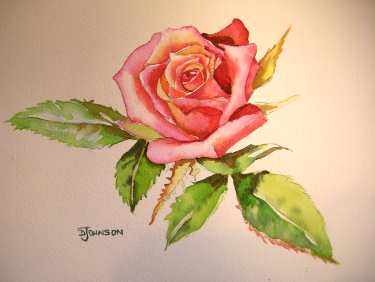 750x563 How To Paint A Rose Final Painting! Debbie Waldorf Johnson