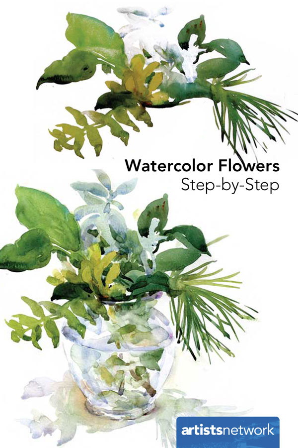 600x900 How To Paint A Watercolor Floral Still Life Step By Step Artist